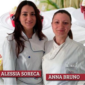 Alessia Soreca ed Anna Bruno, docenti del Corso di Pasticceria e Cake Design