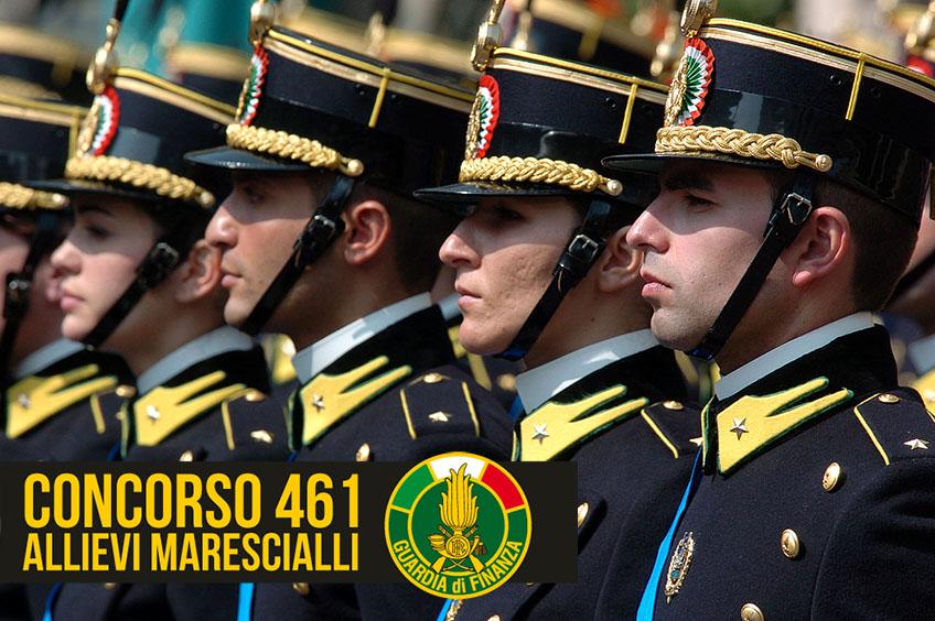 Concorso Guardia di Finanza 461 Allievi Marescialli