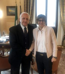 Vincenzo De Luca e Giulia Bongiorno